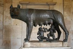 The famous story about Romulus and Remus, the founders of Rome. With Latin, we have translated and discussed a text about this. This is why I was pleased to see this statue.