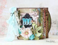 Mini album; love the lace & ribbon as well as the graduated page widths.