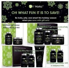 Fun holiday packs which one will you be getting what are u waiting for! 818.391.9423  Wrapitupwithtawnya.myitworks.com #instapic #instagood #gym #babyfat #afterbaby #newmommy #mommytobe #stayathomemom #smallboiz #gymrat #gym #trainers #dancers #teacher #detox #newbody #beforeandafter #wraps #tawnyasbodywraps #itworks #