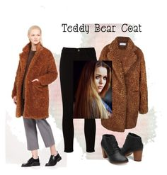 """""""❤️Teddy Bear Coat❤️"""" by lily-krieger ❤ liked on Polyvore featuring Frame, TOMS and Toni&Guy"""