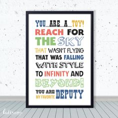 Disney Toy Story Quote Art Print Printable poster by lulirana, $5.00