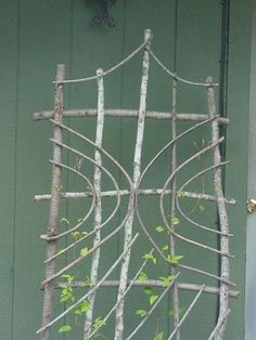 Want to make this and a ladder shelf too. - Chuck Tognoni twig garden art t