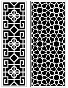 Dercor panel 62 – Download Free Vector Stair Railing Kits, Art File, Autocad, Vector File, Free Design, Woodworking, Doors, Carpentry, Wood Working