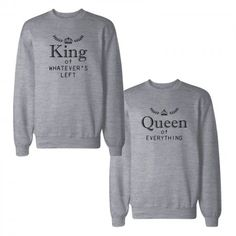 King And Queen Couple Sweatshirts Funny