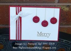 Hi Guys,  Hope your week is going great.  Just want to share with you a couple of quick and easy Christmas cards using buttons. I tried to m...