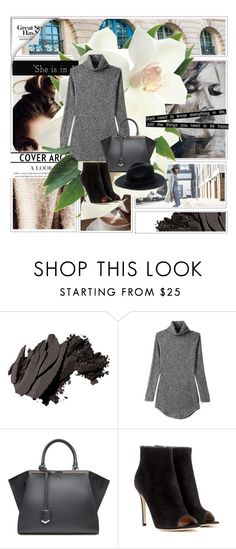 """""""Untitled #443"""" by oychanel ❤ liked on Polyvore featuring Bobbi Brown Cosmetics, Fendi, Gianvito Rossi and Friend of Mine"""