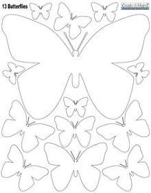 Meio Ligado: Moldes - borboletas