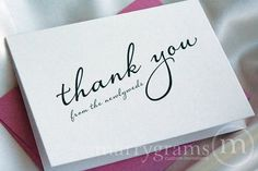 Newlywed Thank You Cards Diagonal Style | Marrygrams