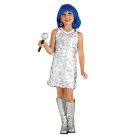 Blue Sparkly Punk Wigs 58  sc 1 st  Hair And Wigs : kids pop star costume  - Germanpascual.Com