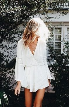 white playsuit. summer style.