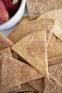Homemade Cinnamon Tortilla Chips are the perfect crispy treat to satisfy those churro cravings! These easy homemade cinnamon chips cookquickly. Cinnamon Sugar Tortillas, Cinnamon Tortilla Chips, Homemade Tortilla Chips, Cinnamon Chips, Homemade Tortillas, Homemade Chips, Milk Recipes, Sweets Recipes, Mexican Food Recipes
