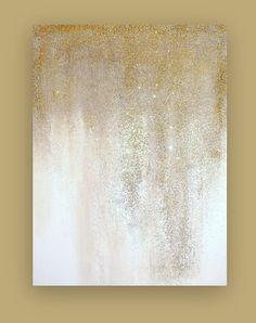 Kunst Zeichnungen - Gorgeous tones of camel and taupe that melt into a bright white. Diy Canvas, Canvas Art, Glitter Art, Silver Glitter, Glitter Canvas, Art Plastique, Shabby, Metal Art, Diy Art