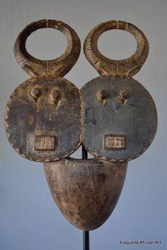 Baule Goli Janus Kple Kple Mask - Exquisite African Art