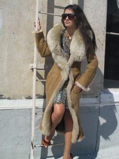 Long Sheepskin Fur Coat