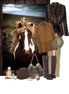 """Horse Sense"" by gilleyqwyn ❤ liked on Polyvore"