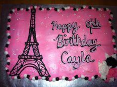 Paris themed cupcake/cake I made 10/27/12