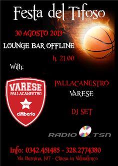 Festa del Tifoso in Valmalenco (SO) per la prima squadra della Serie A del Basket: il Varese.