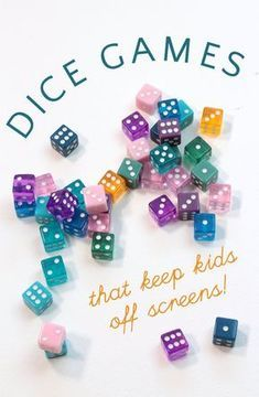 The best dice games for kids! These easy dice games are simple to learn, help kids practice math skills, learn about probability and give them opportunities for building social skills in a screen free environment. Easy Games For Kids, Group Games For Kids, Games For Teens, Family Games, Outside Games For Kids, Children Games, Game For Boys, Kids Fun, Party Games For Girls