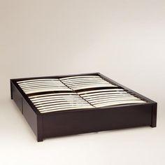 Dark Mahogany Chase Storage Platform Bed | World Market