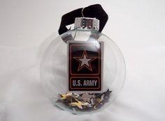 Army Glass Ornament - Patriotic. $6.00, via Etsy.