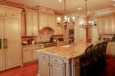 19 Charming Kitchen Designs With Brick Backsplash For Better Visual Effect