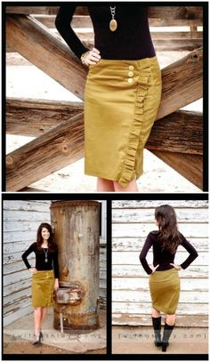I see sewing class doing some of these! The Alligator Skirt Step by Step Instructions - Top 15 Summer Ready DIY Skirts With Free Patterns and Instructions Diy Clothing, Sewing Clothes, Sewing Tutorials, Sewing Patterns, Skirt Patterns, Sewing Projects, Diy Rock, Looks Style, My Style