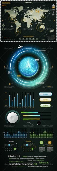 Infographics Elements of the World Map, and EQ - Infographics