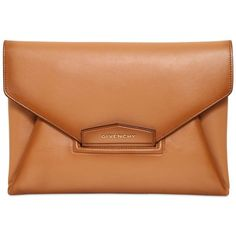 GIVENCHY Antigona Vintage Leather Clutch - Light Camel (31.759.110 VND) ❤ liked on Polyvore featuring bags, handbags, clutches, purses, givenchy, light camel, vintage leather handbags purses, camel purse, handbags & purses and camel handbag