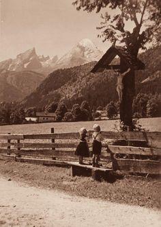 <3 <3 <3 Children praying at a wayside shrine (Europe)