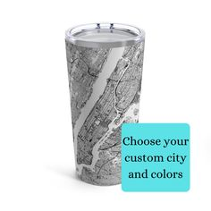 Custom Any City Map Drink Tumbler | Unique Custom Map Gifts | Cool Map Drink Tumblers| Special Custom Map Keepsake | Gift For Traveller #custommapgift #maptumbler #customcitymap Condolence Gift, Sympathy Gifts, Sister In Law Gifts, Gifts For Dad, Funeral Gifts, Remembering Dad, City And Colour, Sweet Messages, Custom Map