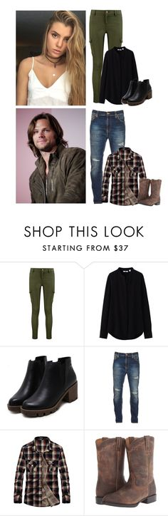 """Cuddfan's Tavern"" by the-infinite-anons ❤ liked on Polyvore featuring Boohoo, Uniqlo, Nudie Jeans Co. and Ariat"