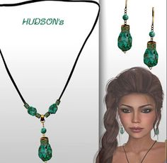 Second Life Freebies and more: Turquoise Healing Stones Healing Stones, Second Life, Sims 4, Tassel Necklace, Turquoise, Drop Earrings, Healing Crystals, Chandelier Earrings, Teal