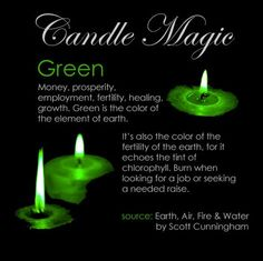 Green Candle Greencandle Candlemagic