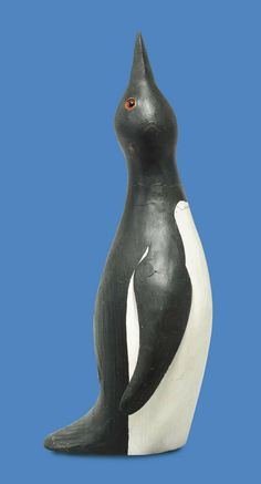 Guy Taplin (b. 1938) Young penguin inscribed, dated and signed 'PENGUIN 2000 TAPLIN' (on the base) wood