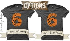 Basketball Number Iron on Transfer Iron by ScrapendipityDesigns
