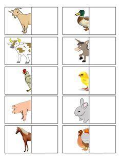 Il+puzzle+degli+animali+della+fattoria