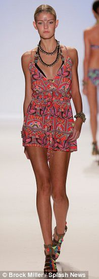 Mara Hoffman Resort Swim 2014.  Love this romper (dress?).. as seen on the runway at Mercedes-Benz Fashion Week Swim in Miami.