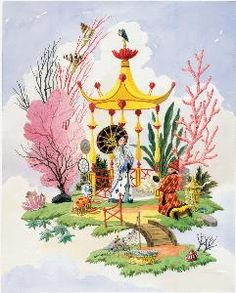 The Dowry Limited Edition Chinoiserie Print.  Product in photo is from www.wellappointedhouse.com