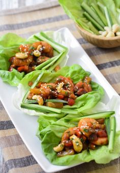 Lettuce Wraps with Sweet and Sour Shrimp... The Foodie Corner