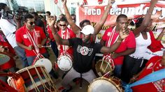 Supporters gather at Piarco International Airport to welcome Keshorn Walcott from the London 2012 Olympic Games, 13 August 2012.
