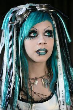 Cyber Goths - Western Street Fashion. - hairbrained