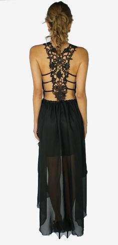 High Low Lace Back Dress   Colors of Aurora.... in love