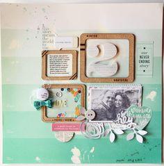 #papercraft #scrapbook #layout    Introducing... Loredana Bucaria