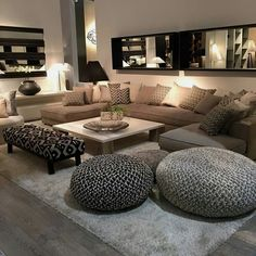 ideas home cozy living room lights Elegant Home Decor, Home Living Room, Room Design, Home, Living Room Decor Apartment, House Interior, Apartment Decor, Interior Design Living Room, Home And Living