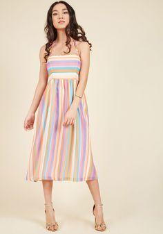 Purposefully Piquant Midi Dress in S, #ModCloth