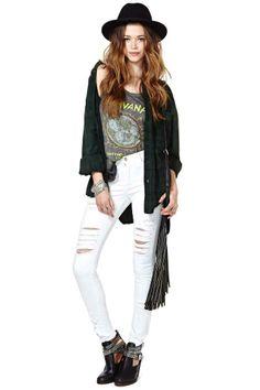 White Lies Skinny Jean