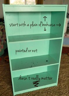 DIY Bookcase Dollhouse.  ***Great site for DIY
