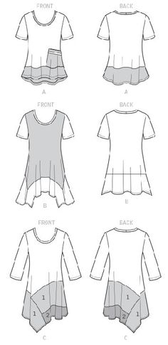 Sewing Techniques Sew Flattering Asymmetrical Hemlines using McCalls by Nancy Zieman Diy Clothing, Sewing Clothes, Clothing Patterns, Clothes Refashion, Recycled Clothing, Barbie Clothes, Dress Patterns, Redo Clothes, Tunic Sewing Patterns