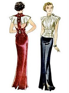 love the 1930's fashion for figure flatter