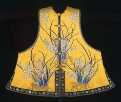 Manchu Woman's Semiformal Vest from the Qing Dynasty in China. Philadelphia Museum of Art